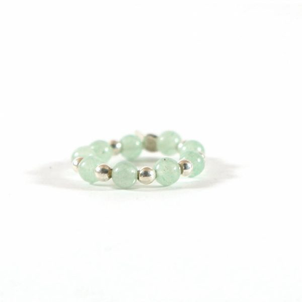 Bague-élastique-en-Jade-argent-massif-(925)-perle-de-jade