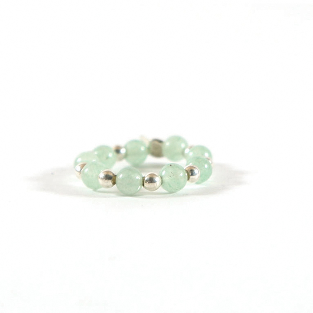 Elasticated Jade bead ring (sold individually)