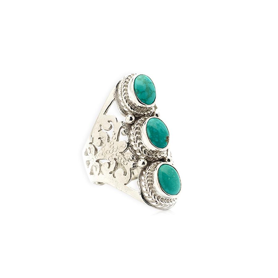 Bague Evissa en argent et pierre de turquoise