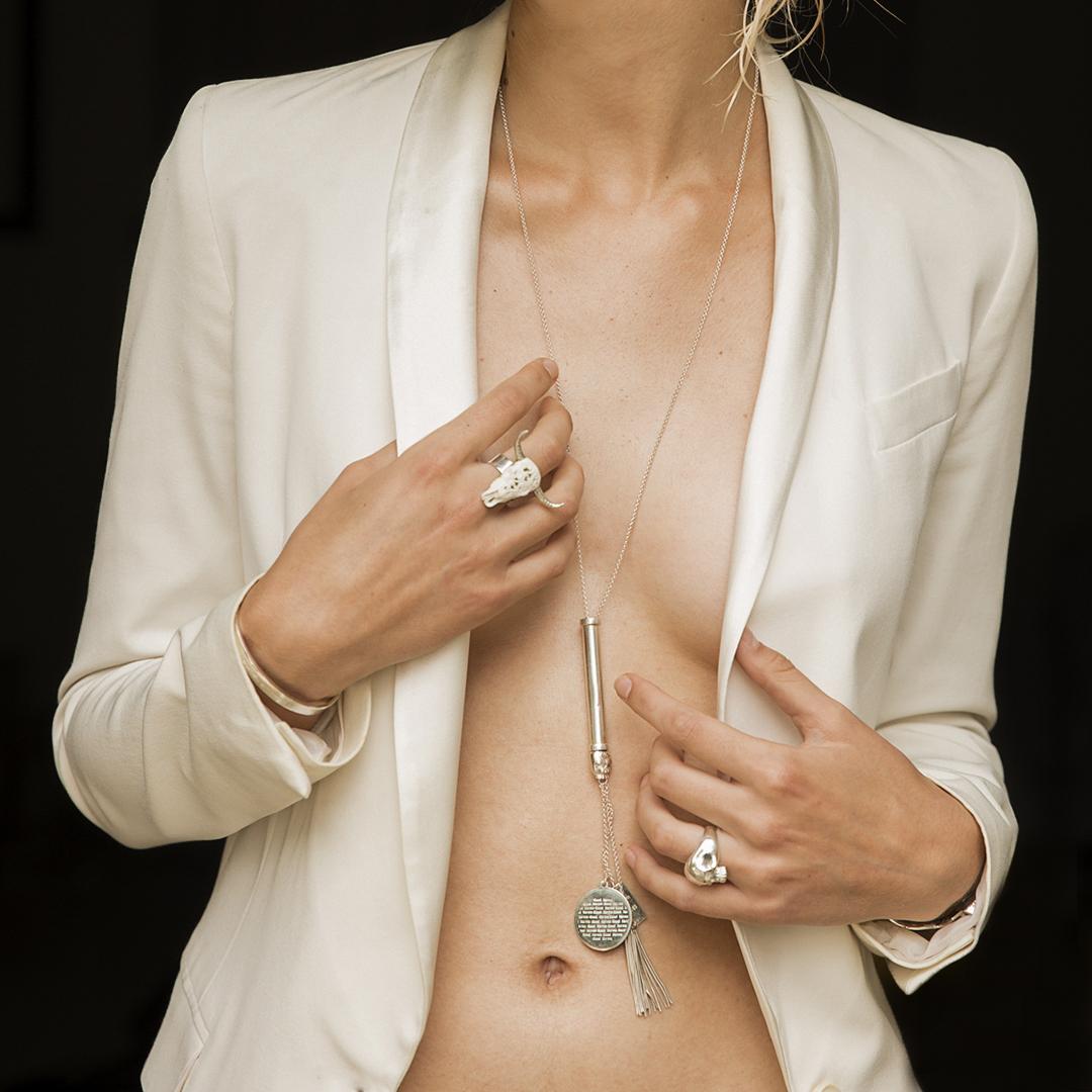Collier Perle de Jade argent massif 925