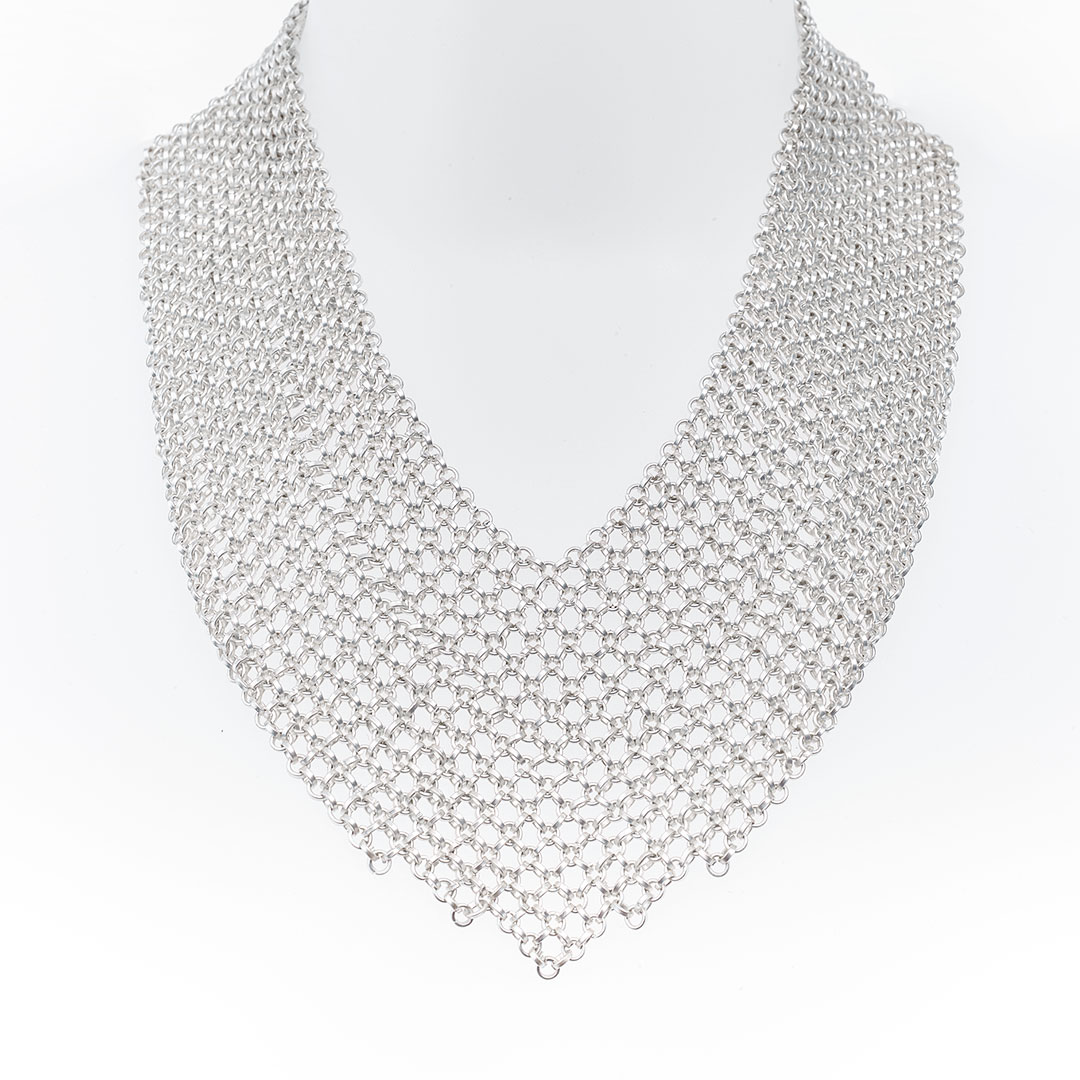 "Silver ""Nefertiti"" necklace"
