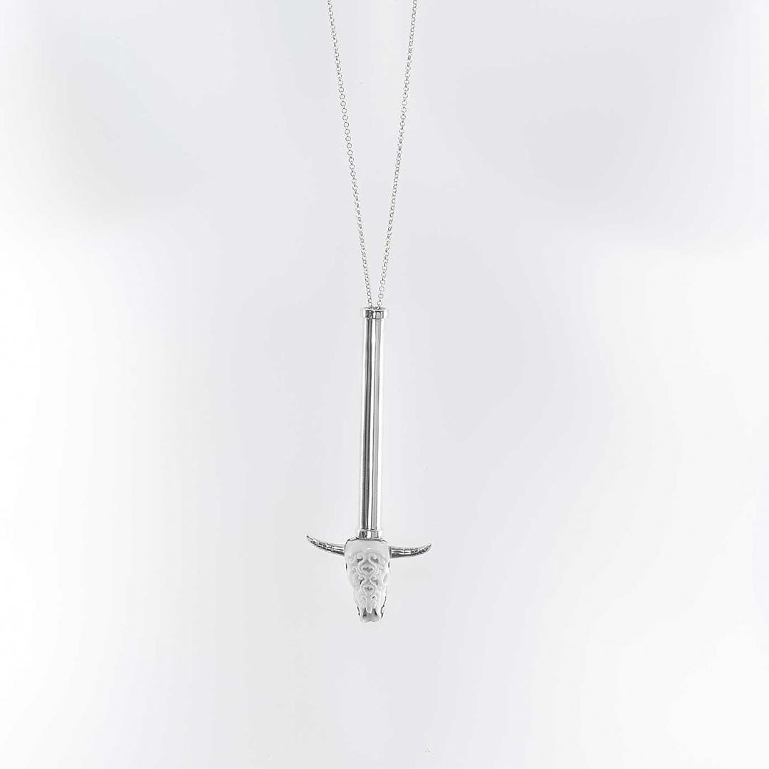 Collier Perle de Jade en argent massif (925)