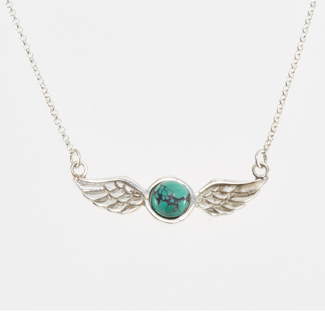 "Silver ""Angel"" necklace with turquoise"