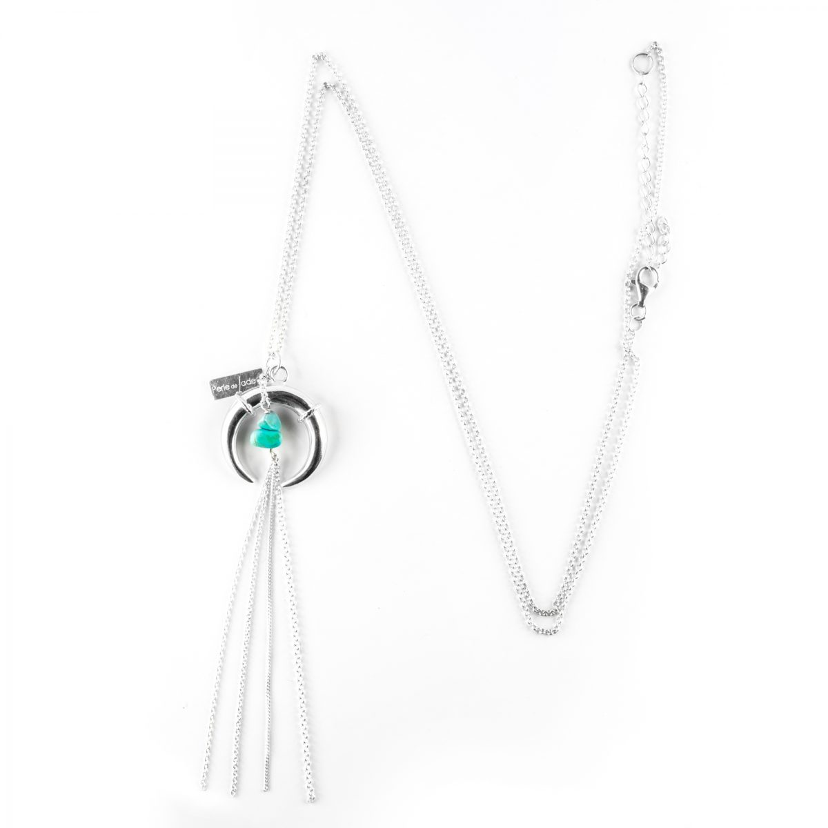 """Luna"" necklace in silver with turquoise"