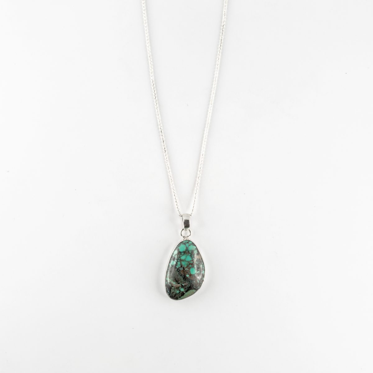 "Silver ""Dreamer"" necklace with turquoise pendant"