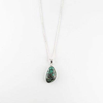 Collier Perle de Jade Dreamer en argent massif et pierre de turquoise