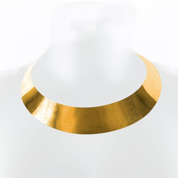 Collier Ras de cou bronze ajustable Perle de Jade