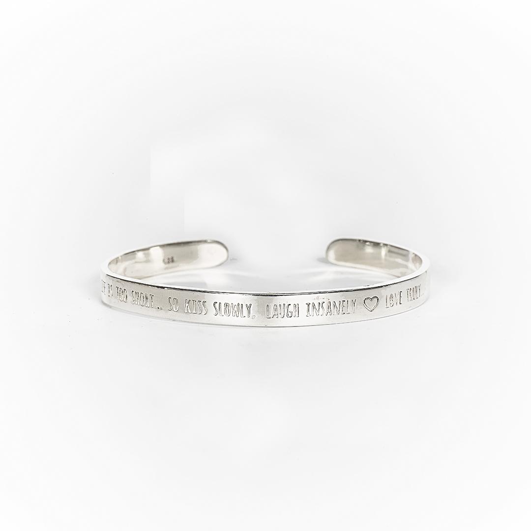 bracelet jonc argent massif 925 perle de jade