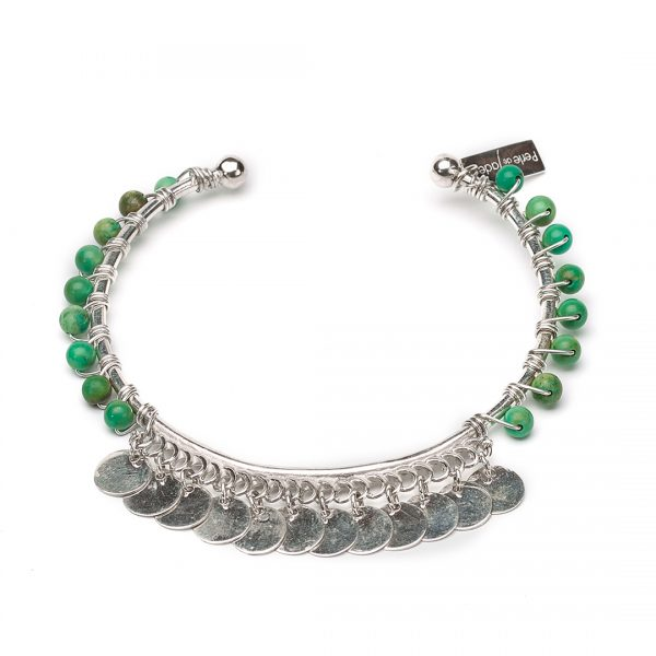 """Bracelet pierres de turquoise et argent massi (925) """"Indian Vibes"""""""