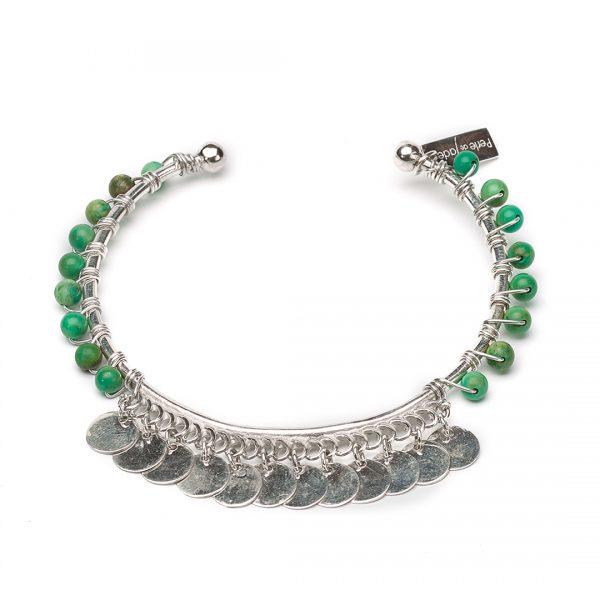 bracelet pierres malachite perle de jade
