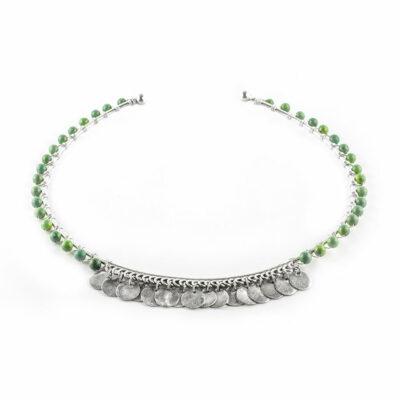 Collier-Perle-de-Jade-pierre-turquoise-argent-massif-zoom