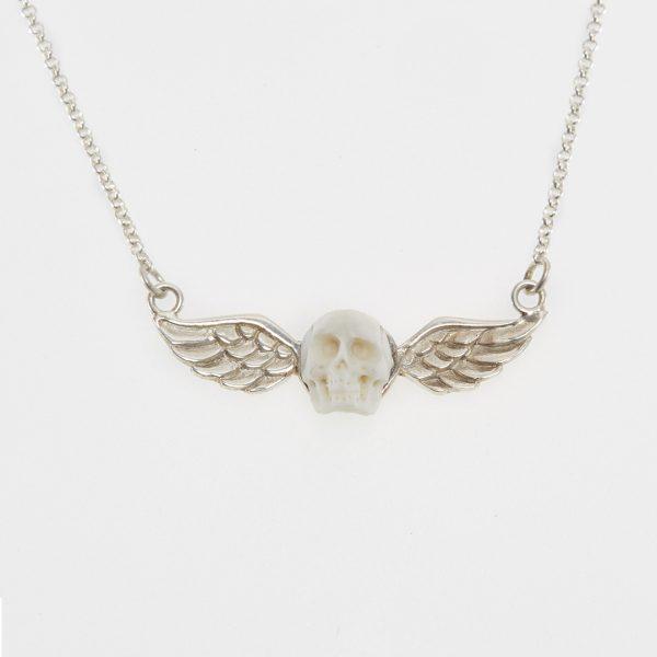 Collier Perle de Jade en argent massif