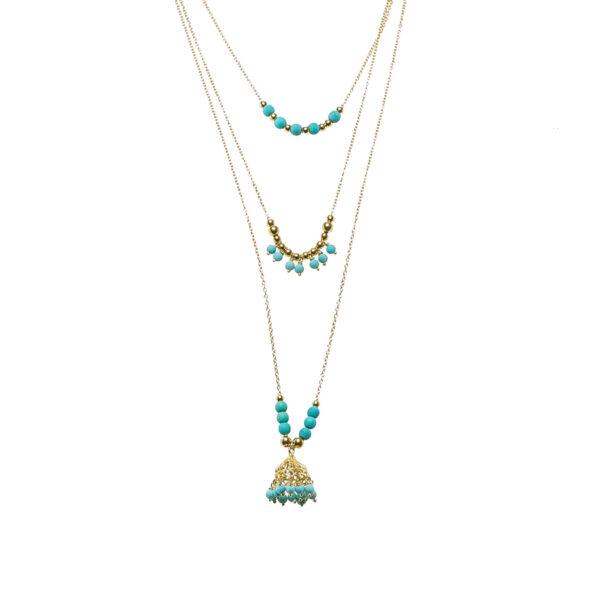 Collier-turquoise perle de jade