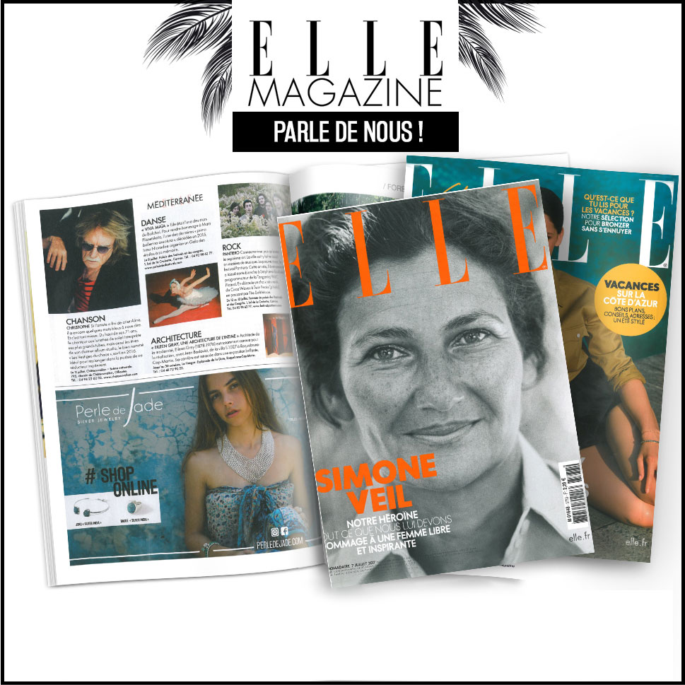 Perle de Jade dans Elle Magazine