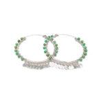 boucles d'oreille indian vibes perle de jade