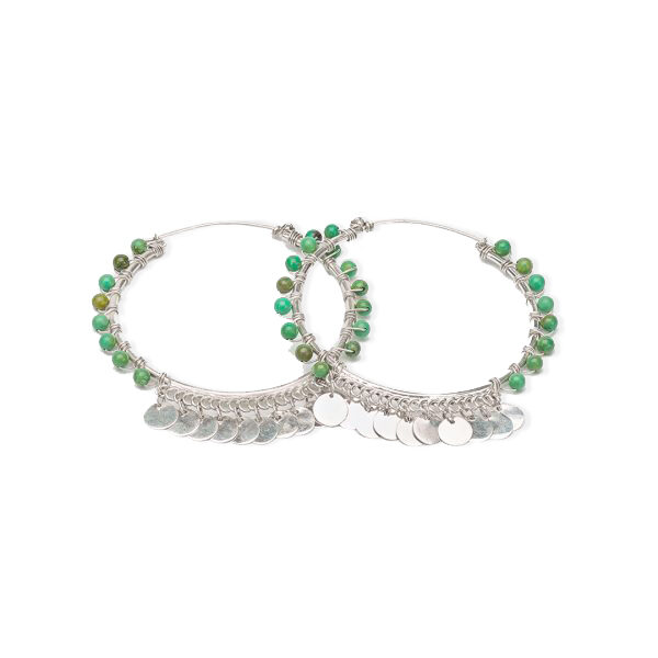 boucles d'oreille indian vibes perle de jade