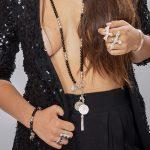 Perle de Jade collier en pierre de quartz noir