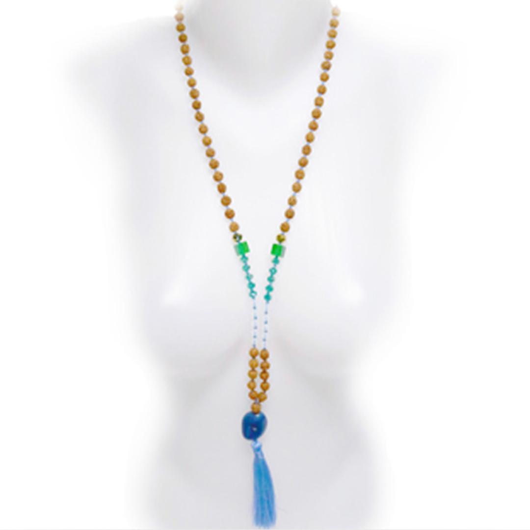Collier Mâla Méditation Perle de Jade