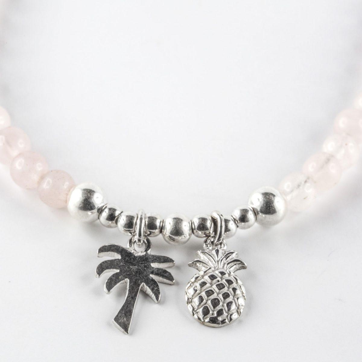 """Collier enfant perles Quartz rose """"Sweetie"""""""