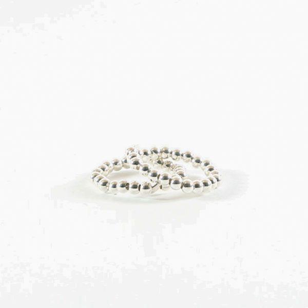 Perle-de-jade-bague-élastique-due-et-argent-massif-925