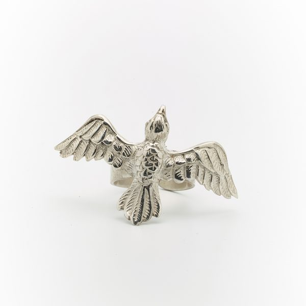 Perle de Jade eagle ring small en argent massif 925