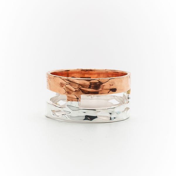 Perle de Jade bague en cuivre et argent massif 925
