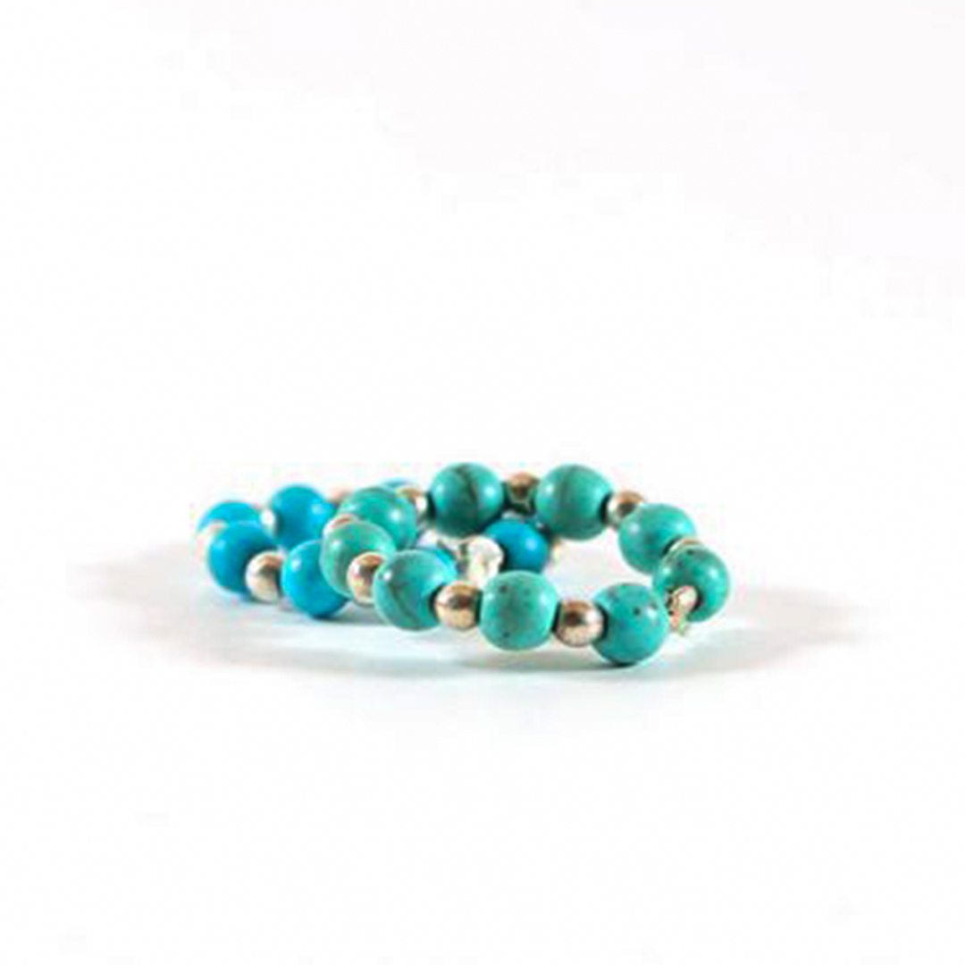 """""""Turquoise"""" bead ring (sold individually)"""