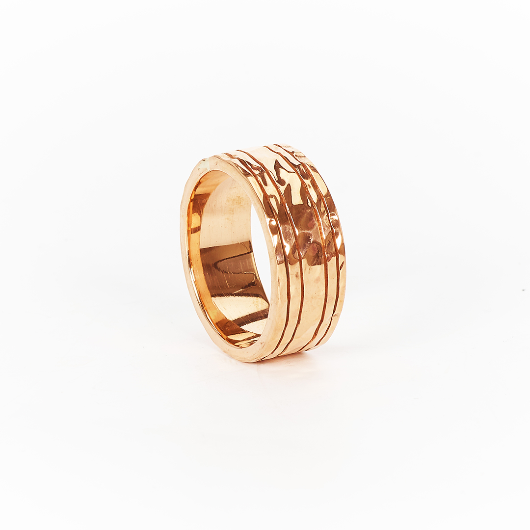 """Copper"" ring with copper gold plating"