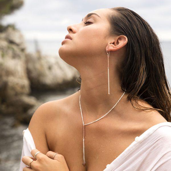 """Boucles d'oreille """"May Wind"""" en argent massif (925) Perle de Jade"""