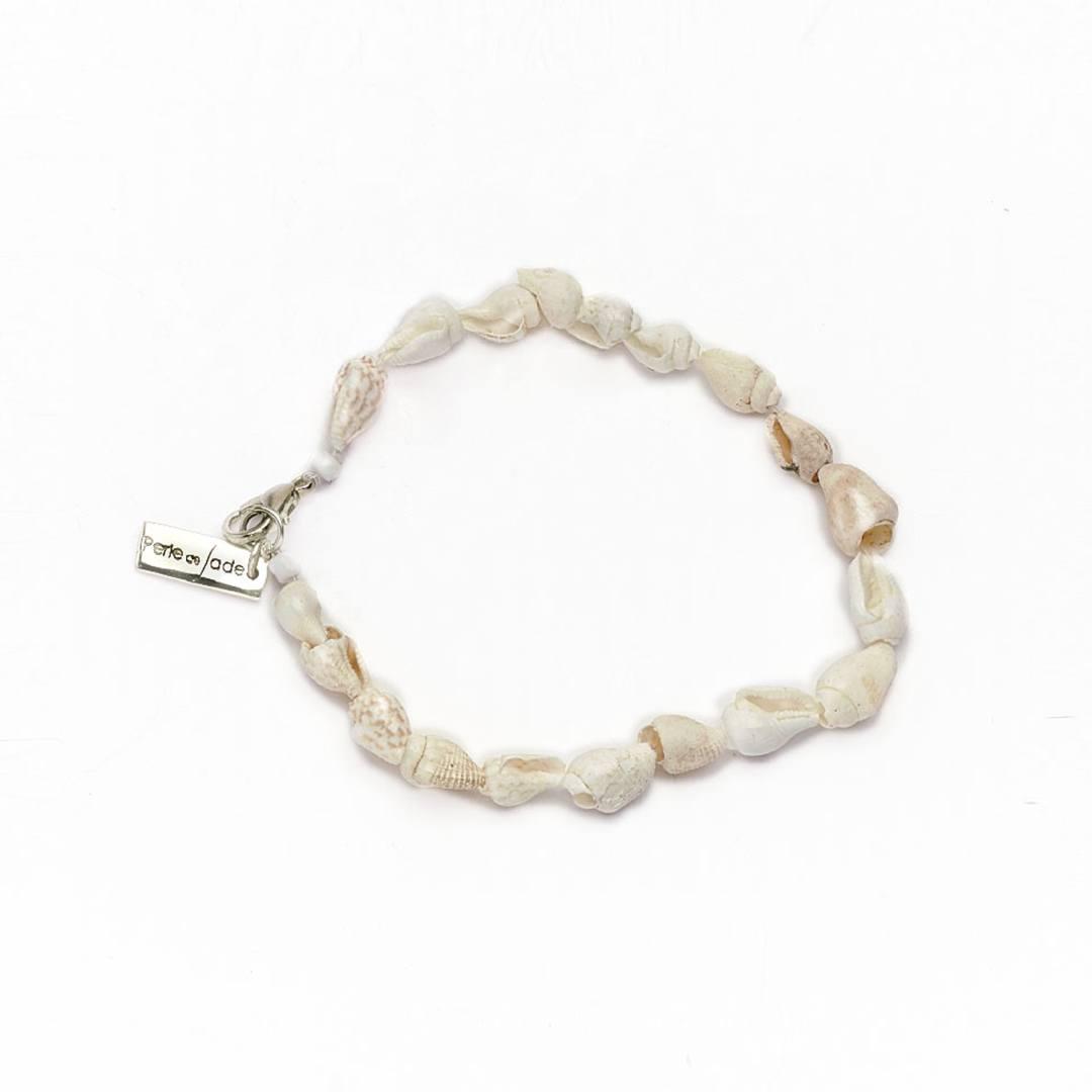 bracelet coquillages perle de jade