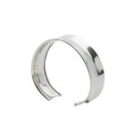 Curved solid silver cuff bracelet