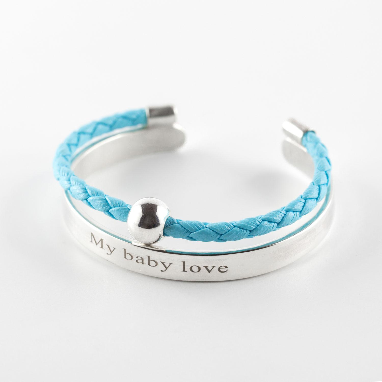 bracelet jonc enfant cuis bleu petite canaille perle de jade