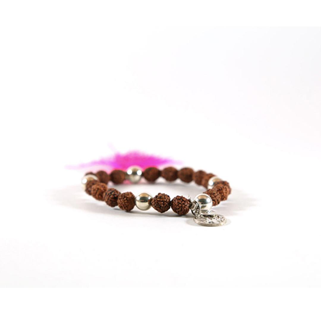 bracelet bouddhiste mâlâ de méditation rose