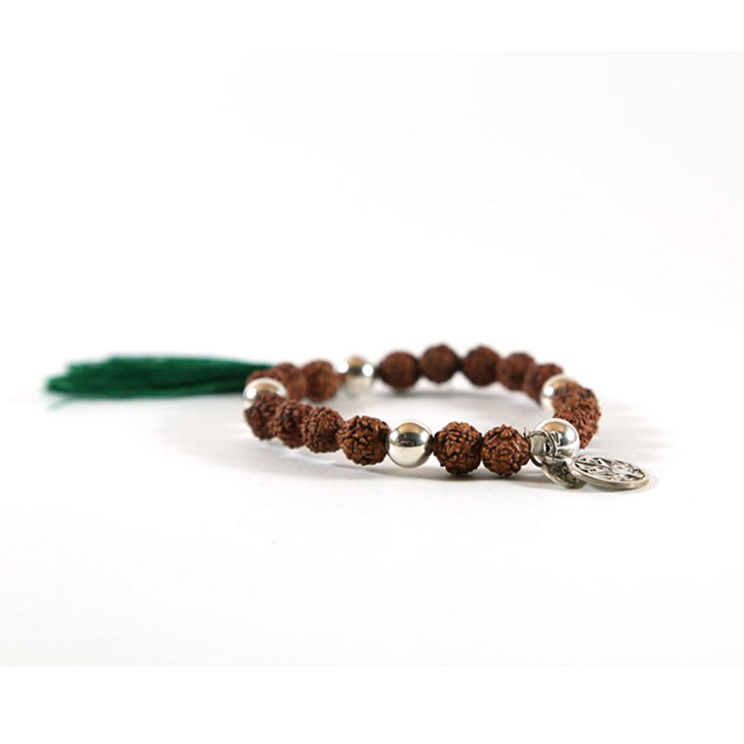 bracelet bouddhiste mâlâ de méditation vert perle de jade
