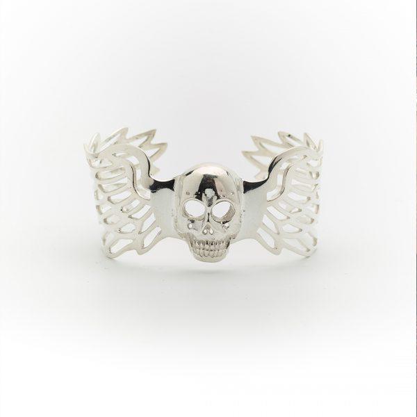 bracelet manchette ajustable angel perle de jade