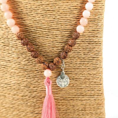Perle de Jade collier Mâla méditation graines rudraksha