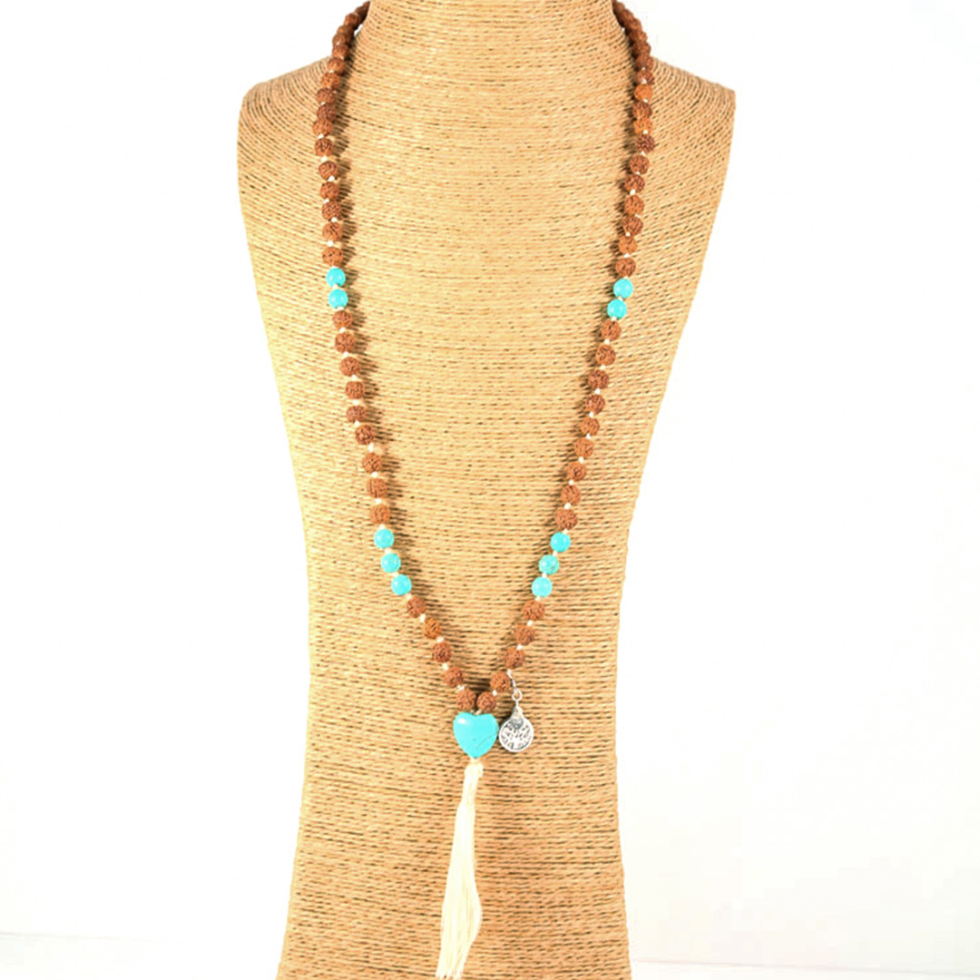 """Lona"" Mâlâ meditation necklace"