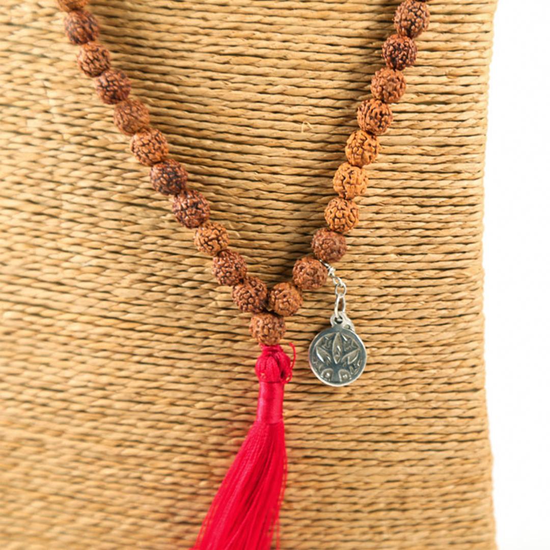 Perle de Jade collier Mâla méditation Mani