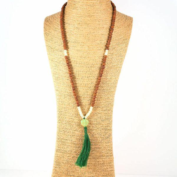 Perle de Jade collier de méditation mâlâ Mya