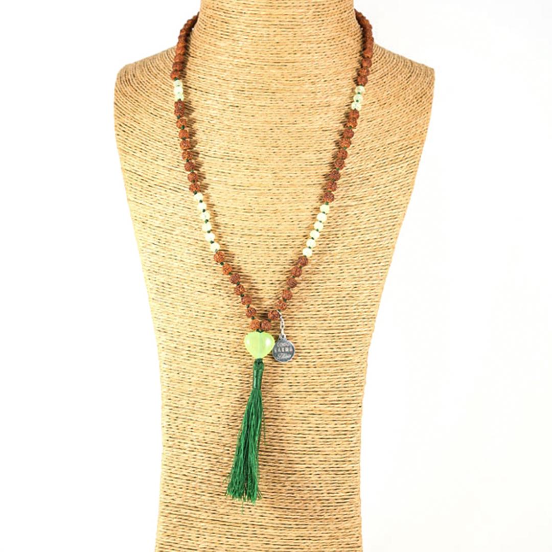 Perle de Jade collier Mâla méditation Mya