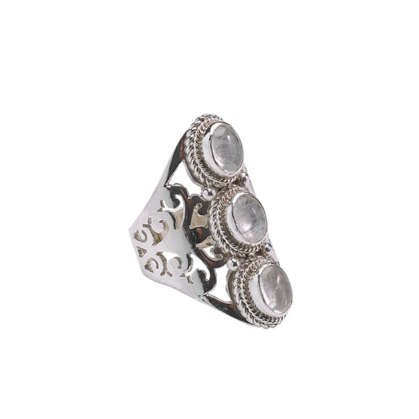 bague pierres de lune perle de jade