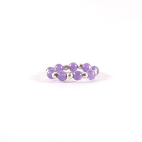 bague-elastique-violette-argent-massif-925-perle-de-jade