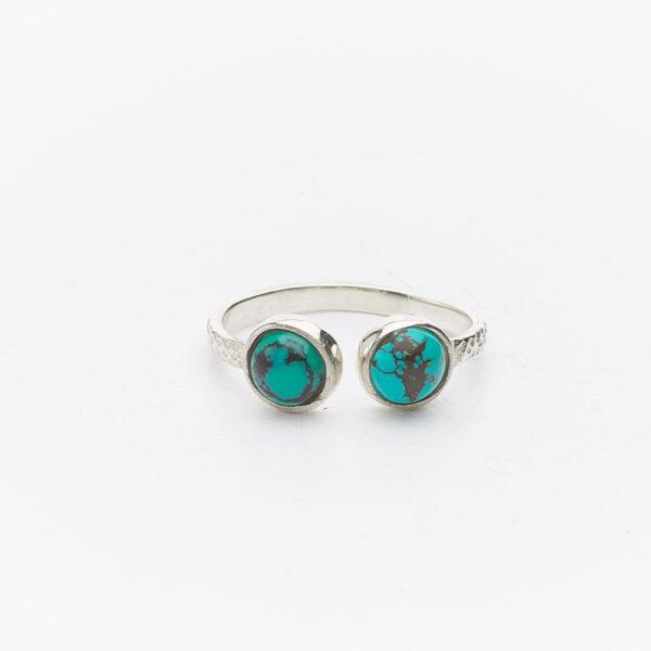 bague-fines-simplicity-argent-massif-pierre-de-turquoise-duo