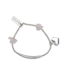 bracelet élastique enfant quartz blanc perle de jade