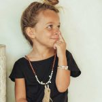 bracelet en cuir enfant argent grave my baby love