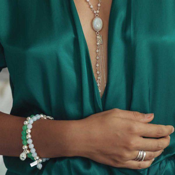 bracelet good karma jade et argent