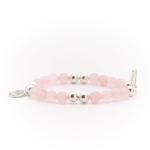 bracelet good karma quartz rose perle de jade