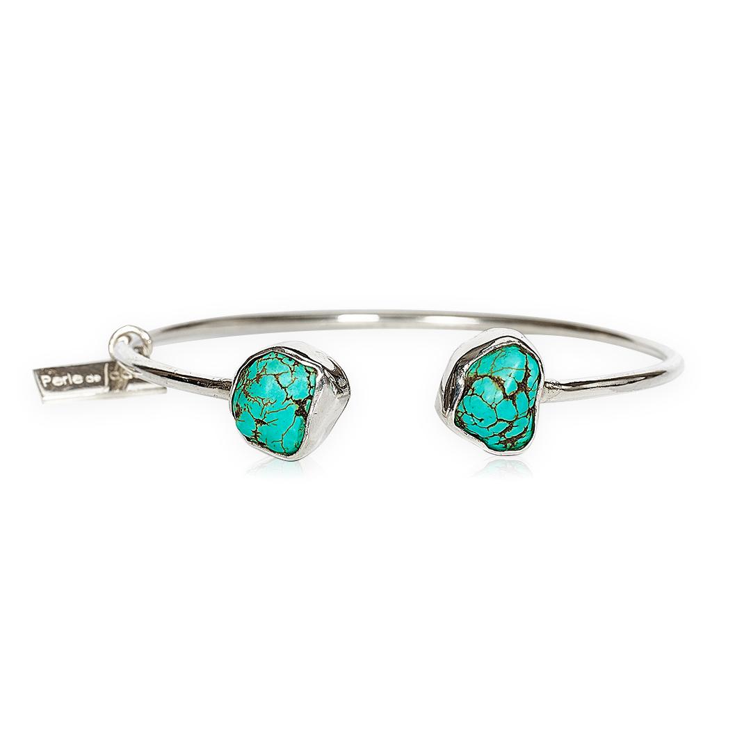 Bracelet jonc en pierre turquoise