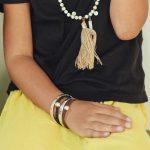 bracelet jonc enfant argent 925 grave my baby love et cuir noir avec perle d'argent