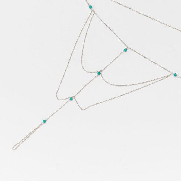 chaine-de-cheville-trois-niveaux-turquoise-argent-perle-de-jade